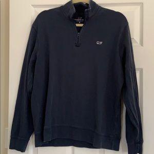 Vineyard Vine 3/4 zip Navy shirt! Medium!